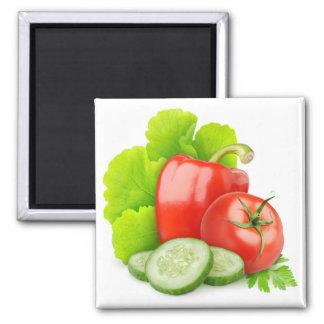 Fresh vegetables 2 inch square magnet