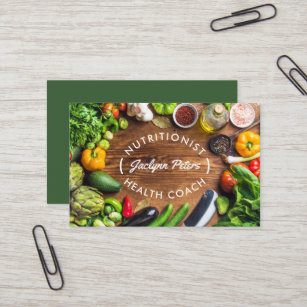 Dietitian business cards templates zazzle fresh vegetables business card reheart Image collections