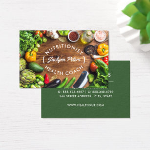 Nutrition business cards templates zazzle fresh vegetables business card reheart Image collections