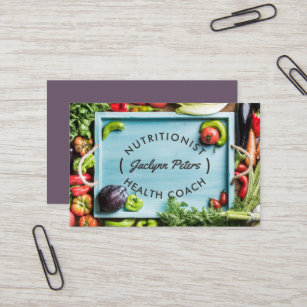 Dietitian business cards templates zazzle fresh vegetables business card tray reheart Image collections