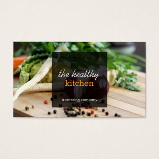 Catering business cards templates zazzle fresh vegetables catering or chef business card reheart Image collections