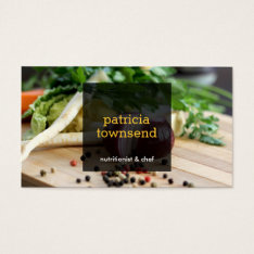 Fresh Vegetables Catering Or Chef Ii Business Card at Zazzle