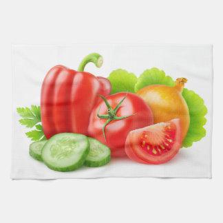 Fresh vegetables hand towel