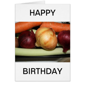 Fresh Vegetables   HAPPY BIRTHDAY Card