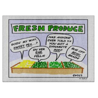 Fresh Vegetables Humorous Cutting Board
