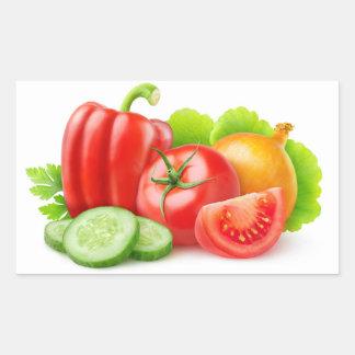 Fresh vegetables rectangular sticker