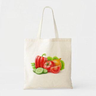 Fresh vegetables tote bag