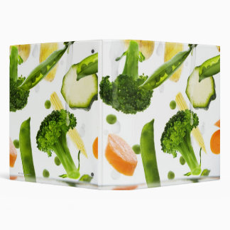 Fresh vegetables with water falling into a bowl 3 ring binder