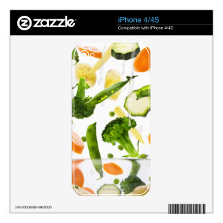 Fresh vegetables with water falling into a bowl iPhone 4S decal