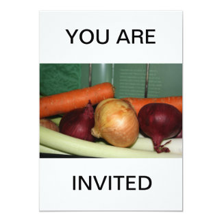 Fresh Vegetables  YOU ARE INVITED Invitation