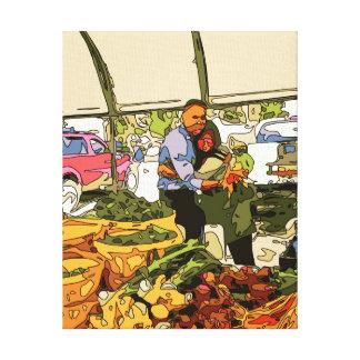 Fresh Veggies at the Farmers Market Canvas Print
