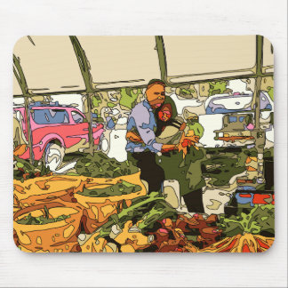 Fresh Veggies at the Farmers Market Mousepad