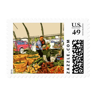 Fresh Veggies at the Farmers Market Stamps