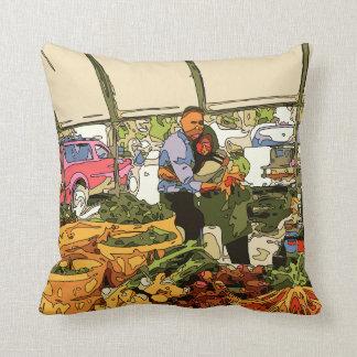 Fresh Veggies at the Farmers Market Throw Pillow