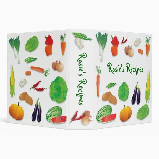 fresh veggies recipe binder