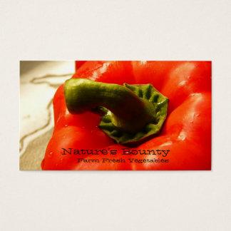 Fresh Veggies - Red Bell Pepper Business Card