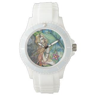 Fresh Water Mermaid Fantasy Art Wristwatch