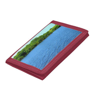 Fresh Water Pond Block Island Trifold Wallet