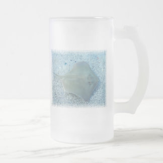Fresh Water Stingray Frosted Beer Mug