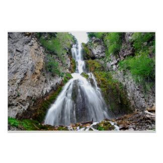 Fresh Water Waterfall Poster