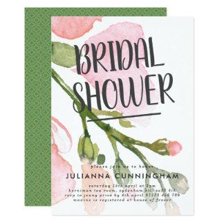 Fresh Watercolor Blooms Bridal Shower Invitation