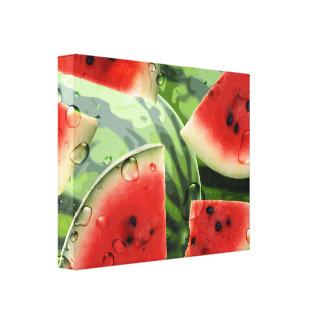 Fresh Watermelon Kitchen Canvas Print