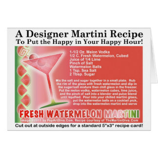 Fresh Watermelon Martini Recipe Card