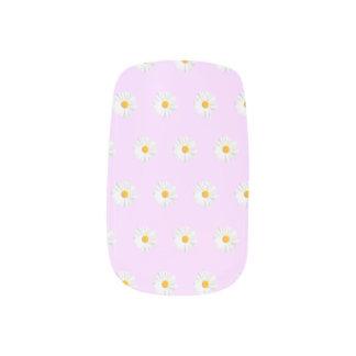 fresh white daisy minx nail wraps