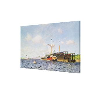 Fresh Wind on the Volga, 1895 Canvas Print