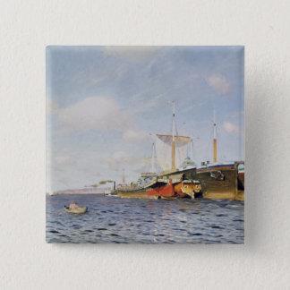 Fresh Wind on the Volga, 1895 Pinback Button