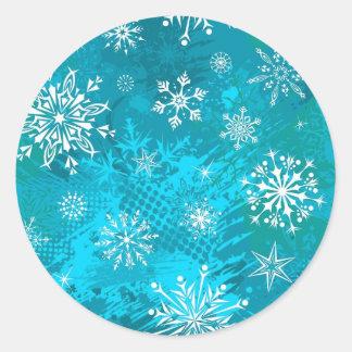 Fresh Winter Day Classic Round Sticker
