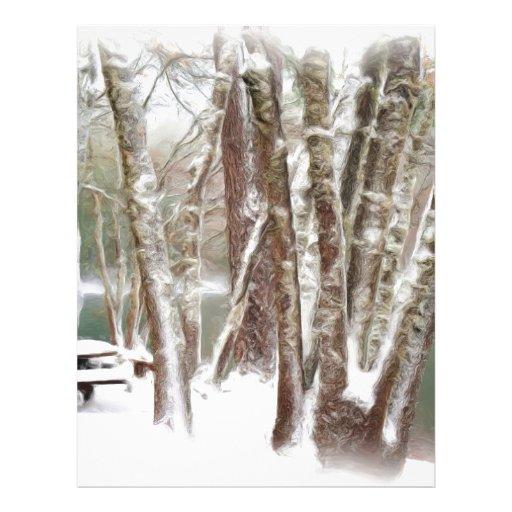 Fresh Winter Snow Letterhead Template