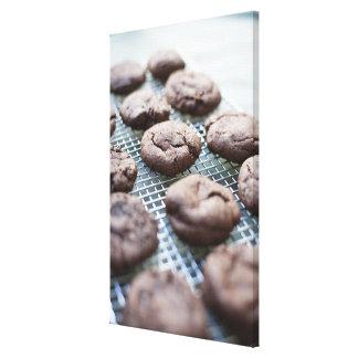Freshly Baked Gluten-free Chocolate Cookies Canvas Print