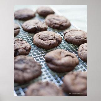Freshly Baked Gluten-free Chocolate Cookies Poster