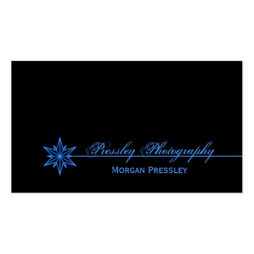 Freshly Clean Starburst Business Card, Blue Double-Sided Standard Business Cards (Pack Of 100)
