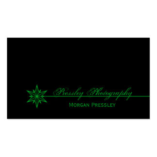 Freshly Clean Starburst Business Card, Green Double-Sided Standard Business Cards (Pack Of 100)