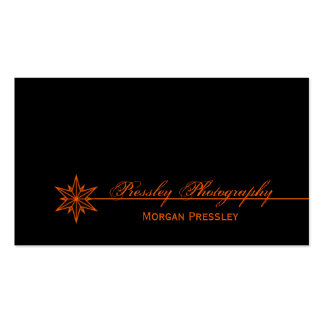 Freshly Clean Starburst Business Card, Orange Double-Sided Standard Business Cards (Pack Of 100)