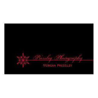 Freshly Clean Starburst Business Card, Pink Double-Sided Standard Business Cards (Pack Of 100)