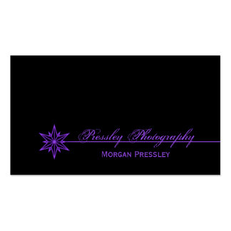 Freshly Clean Starburst Business Card, Purple Double-Sided Standard Business Cards (Pack Of 100)