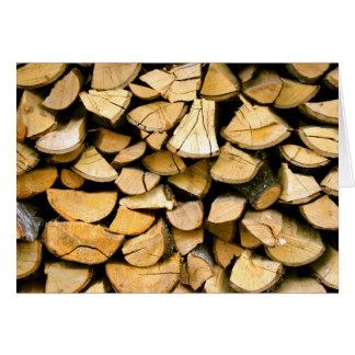 Freshly Cut Lumber Pile Card