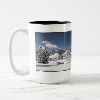 Freshly Fallen Snow Two-Tone Coffee Mug