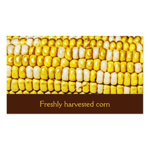 freshly harvested corn business card