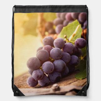 Freshly Harvested Grapes Drawstring Backpack