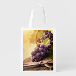 Freshly Harvested Grapes Reusable Grocery Bags