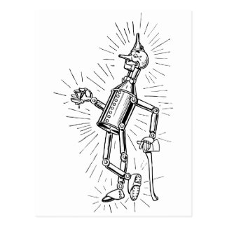 Freshly Oiled Tinman Postcard