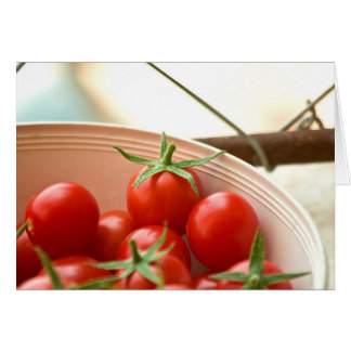 Freshly Picked Cherry Tomatoes Card