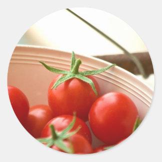 Freshly Picked Cherry Tomatoes Classic Round Sticker
