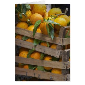 freshly picked oranges card