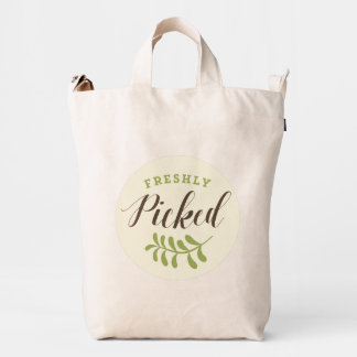 Freshly Picked Retro Typography Baggu Duck Bag