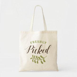 Freshly Picked Retro Typography Tote Bag